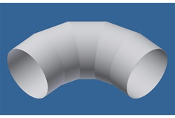 "28"" Elbow (for horizontal use only) (Porous)"